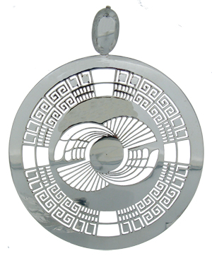 Crop circle pendants handmade in sterling silver the mayan glyph pendant aloadofball Image collections